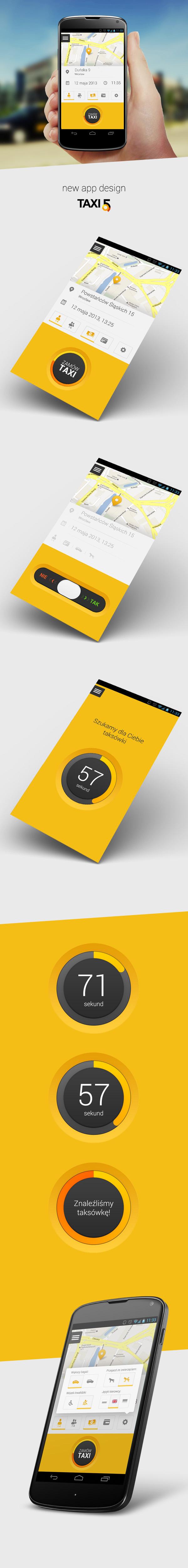 app app design design mobile mobile design nexus taxi5 taxi UI ux flat design application