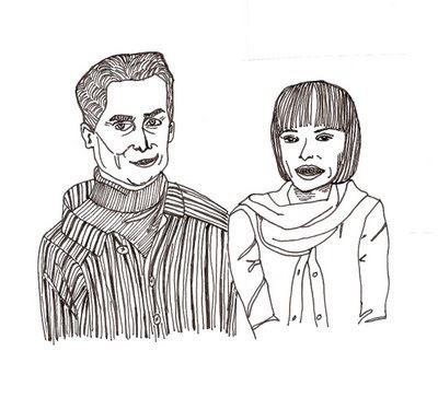 black pen line drawing