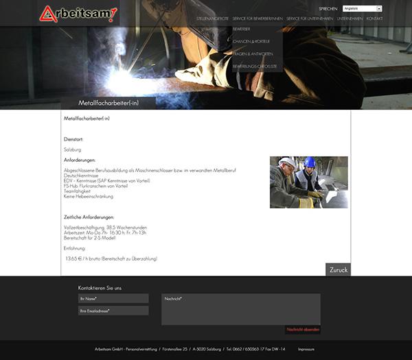arbeitsam www design Work