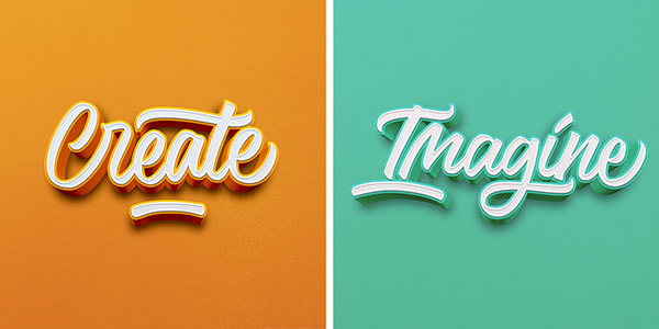 Awesome 3D Lettering & Calligraphy Series