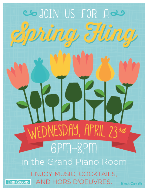 forest city the grand north bethesda md spring fling event flyer