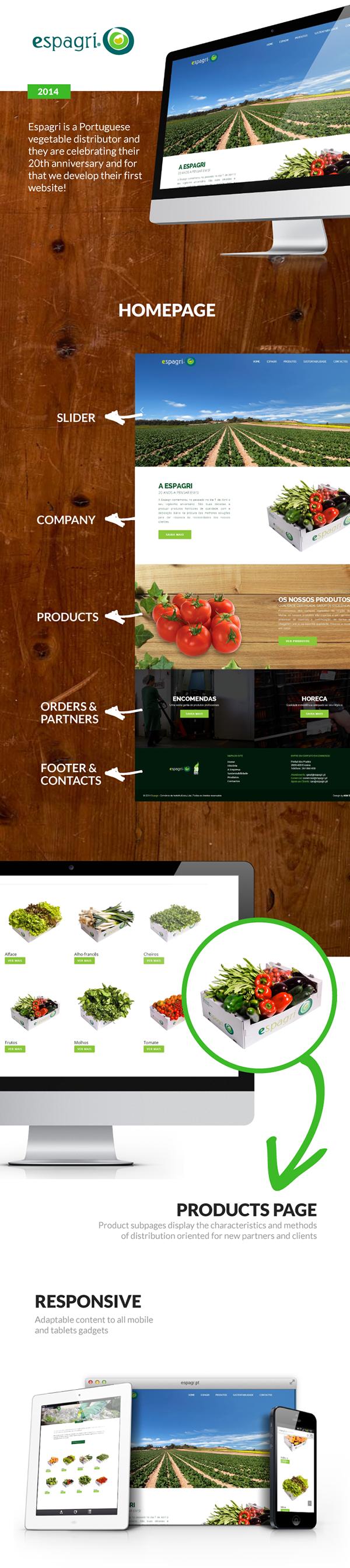 vegetables Portugal espagri Web wordpress Responsive