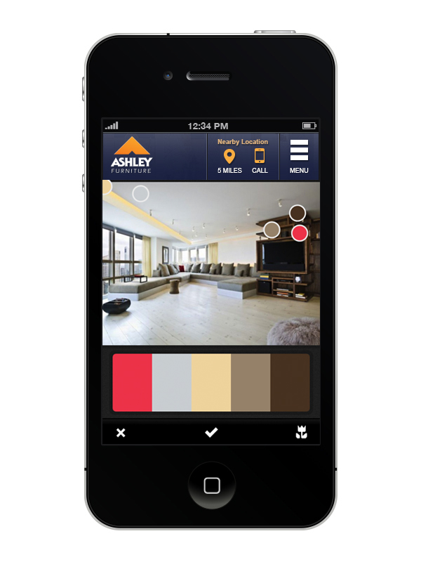 ashley furniture app once you define the colors you can name your color pallette and save it as a