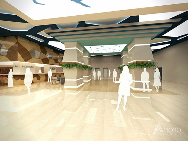 Hotel reception lobby bar design on behance for Hotel reception design