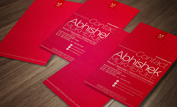 Business card design adobe systems on behance reheart Image collections