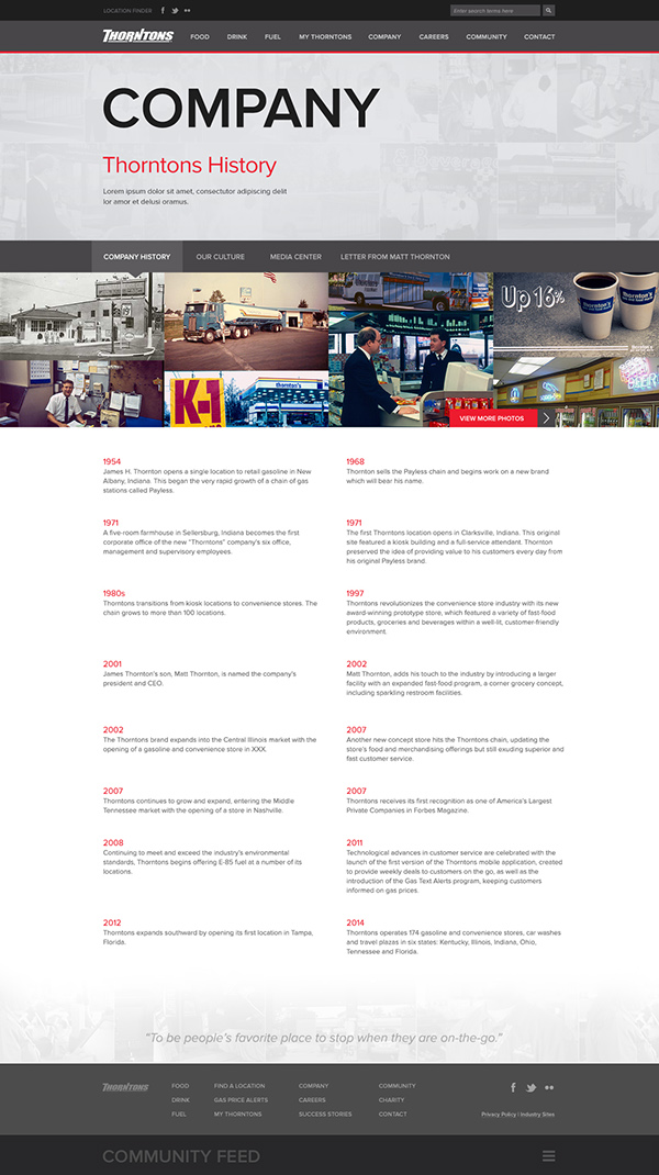 Thorntons Gas Prices >> Thorntons On Behance
