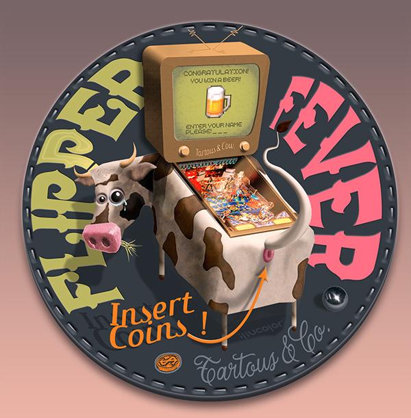 illucolor® cow Flipper france logo Creativity