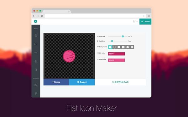 Flat icon maker