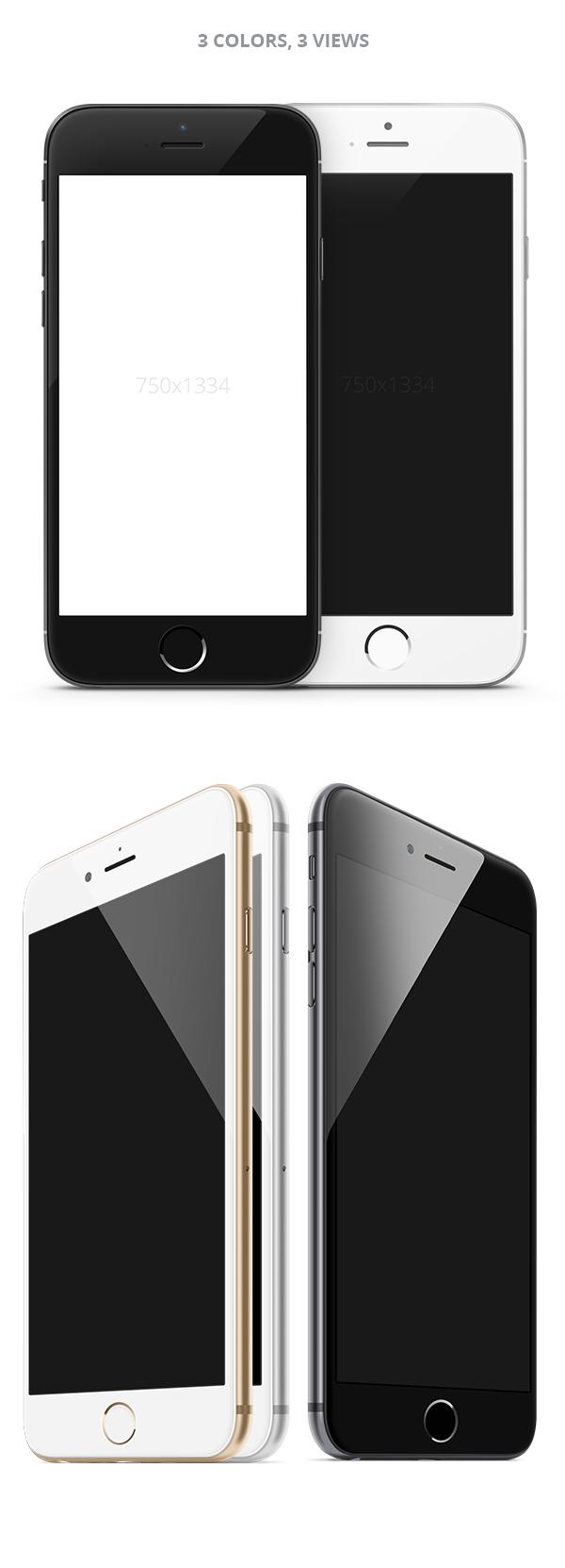 iPhone 6 PSD und Sketch Template