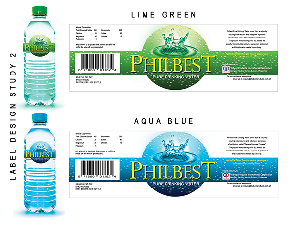 philbest pure water bottle label design on behance With how to design water bottle labels
