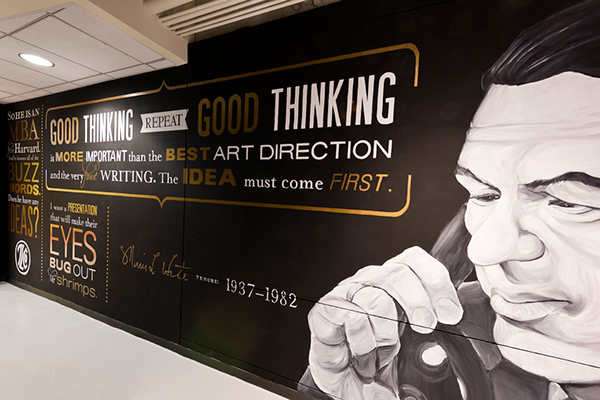 Typographic murals on behance for Mural lettering