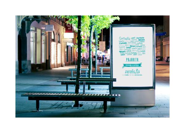 publicidad Campaña Street marketing   publicitaria Anúncios anúncio diseño Versia fm versia chips billboard Mupis Radio