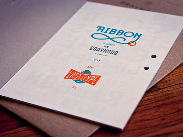 ribbon Lost Type font specimen book