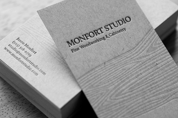 Letterpress business cards on behance colourmoves