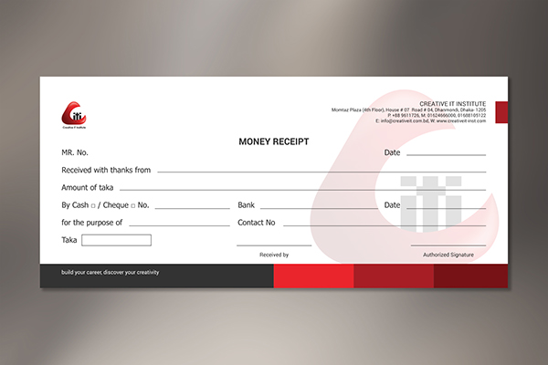 CORPORATE Money Receipt on Behance – Receipt Design