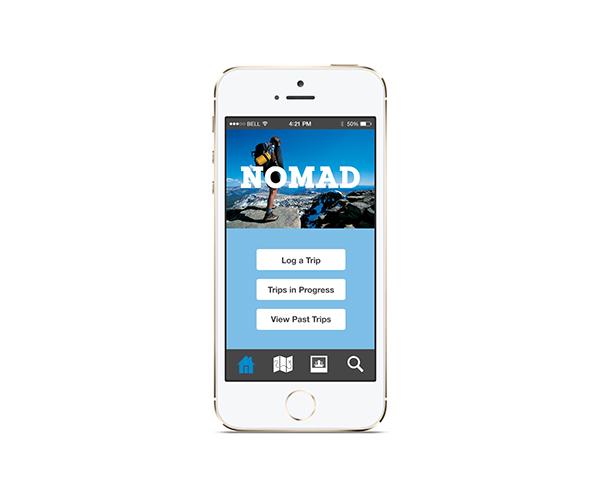 travel journal app nomad on behance