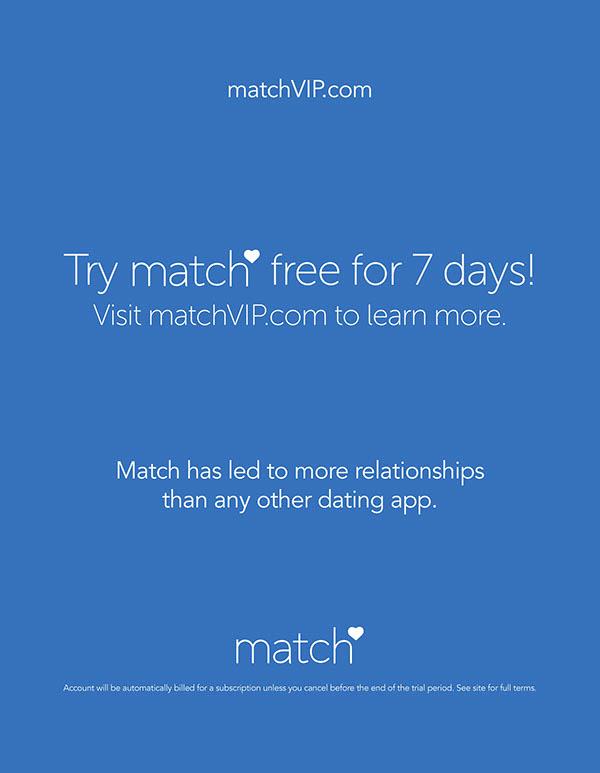 7 days free trial match