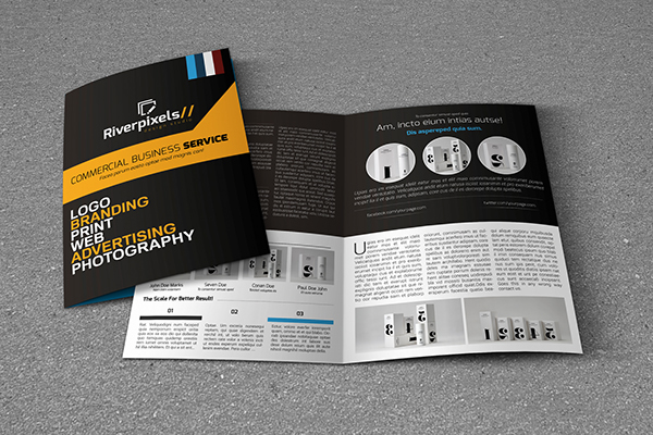 modern a4 bi fold brochure template on behance