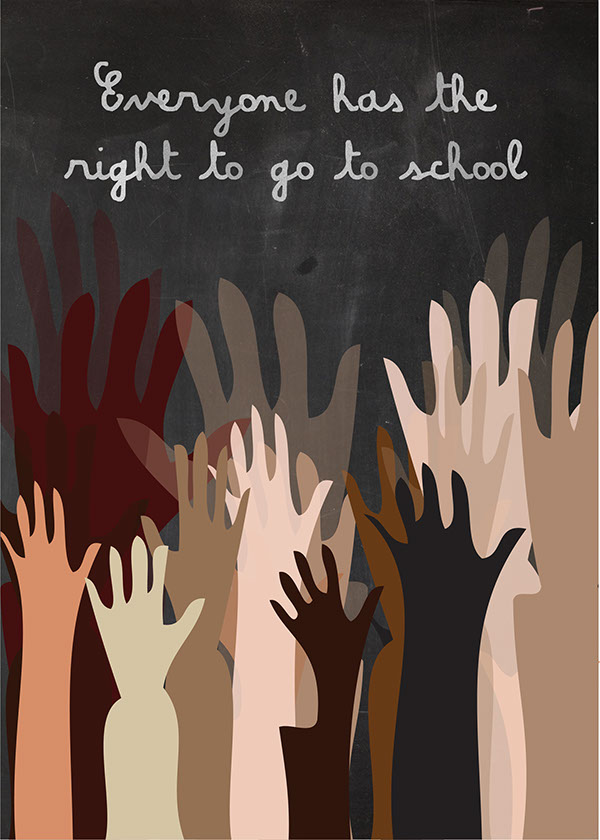 Posters : right to education on Behance