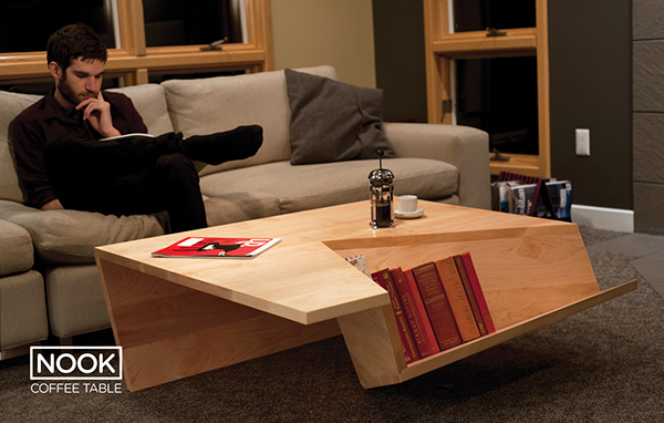 nook coffee table on behance
