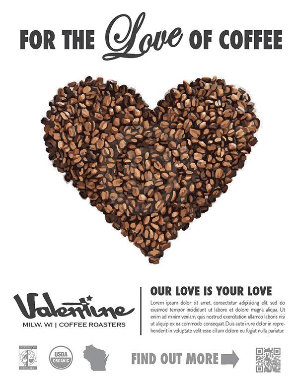 Valentine Coffee Co. On Behance