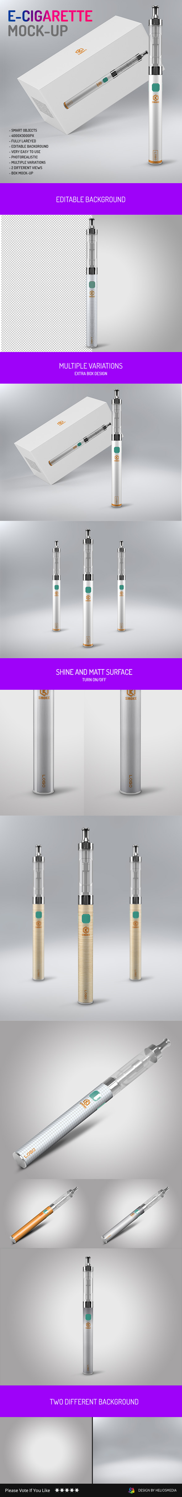 box cigar e-cigarette mat Mockup Multipurpose shine smoke studio