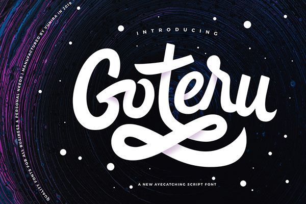 Goteru   Eyecatching Script Font - Dezign Ark (Beta)