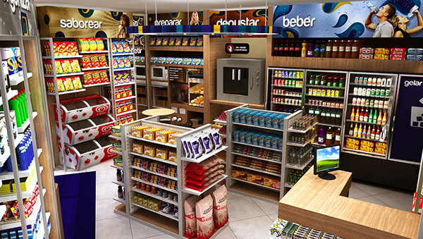 convenience store on behance