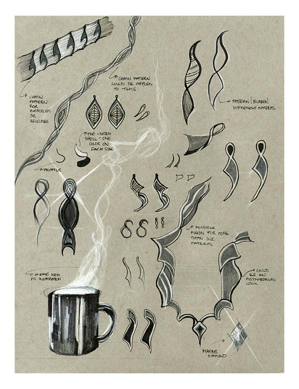jewelry concept sketches on risd portfolios
