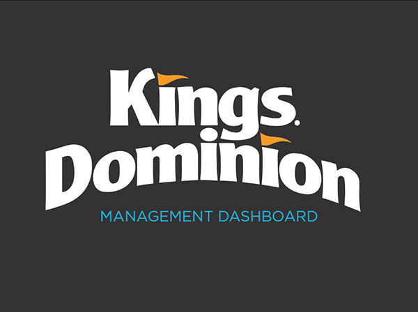 Kings dominion service blueprintmanagement dashboard on behance with key personnel culminated in a thorough understanding of the brand and the creation of an in depth management dashboard and service blueprint malvernweather Gallery