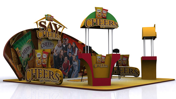 Exhibition Stall On Behance : Cheers exhibition stall on behance