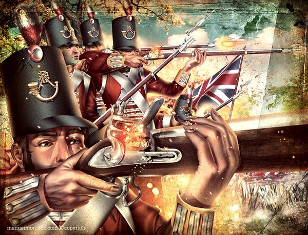 napoleon War battle soldiers Canon