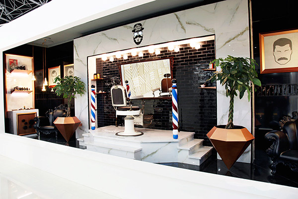 BARBER SHOP INTERIOR DESIGN CONCEPT FOR CEVISAMA