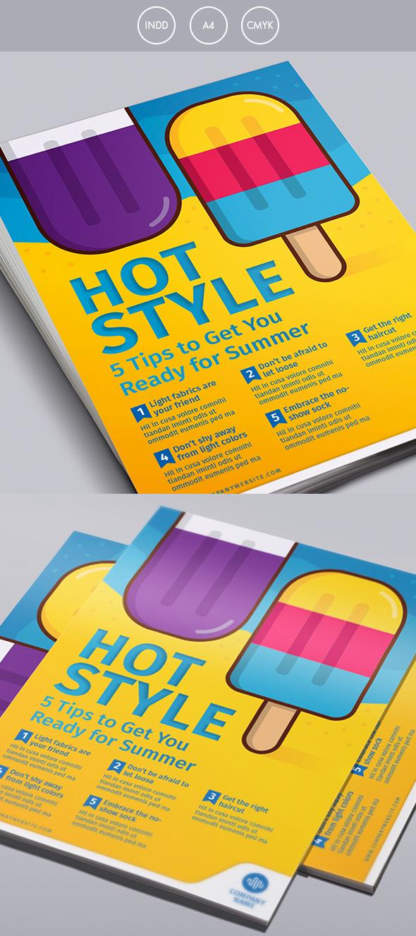 summer ice cream flyer template on behance