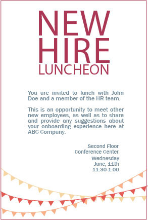 New Hire Luncheon Invitation on Behance