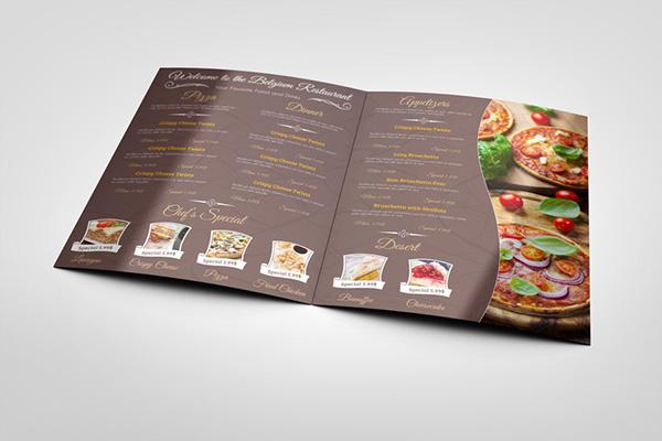 restaurant menu template on behance