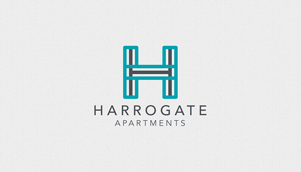 Harrogate apartments branding on behance i was responsible for creating a strong and clean identity and printed collateral for the brand which included letterhead business card folder reheart Image collections