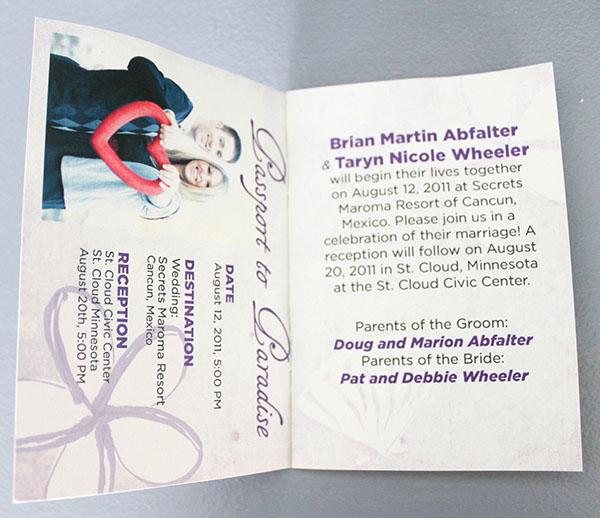 Passport Wedding Invitation on Behance – Passport Style Wedding Invitation