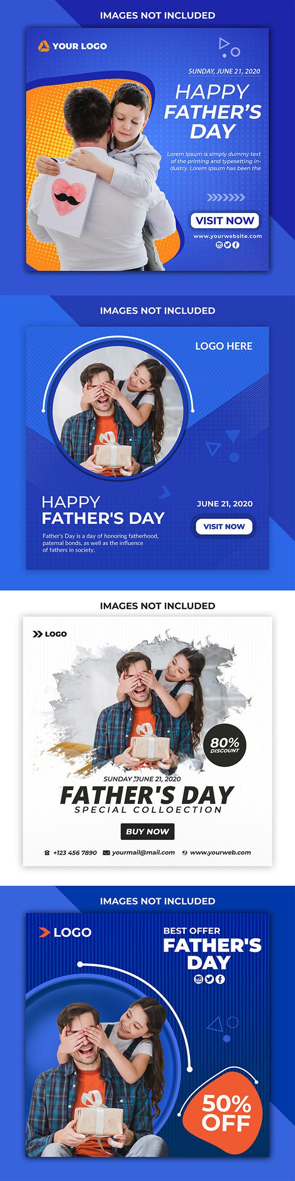 Father's day Social media Design
