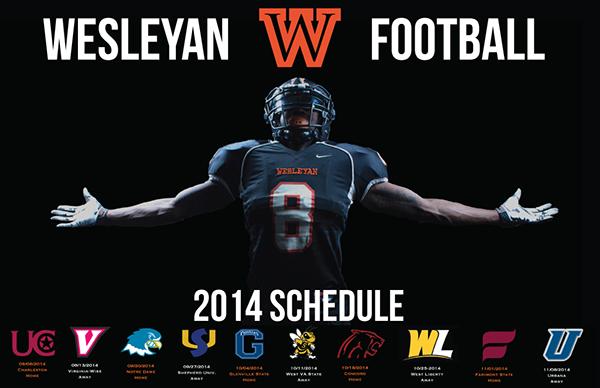 West Virginia Wesleyan Football Schedule 2014 on Behance