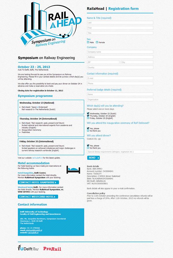 TU Delft Weg- en Railbouwkunde E-mail uitnodiging symposium