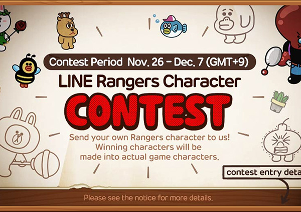 Game Character Design Contest 2015 : Line ranger character contest online game application on