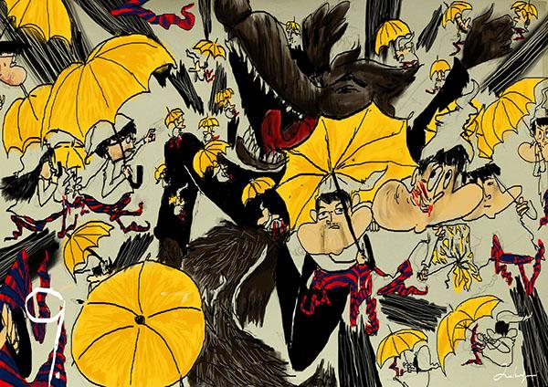 umbrellarevolution umbrellamovement yellow Hong Kong short story illustrated book children