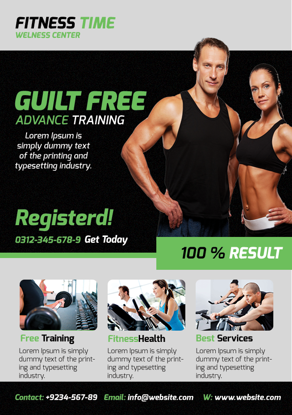 Fitness Flyer On Behance