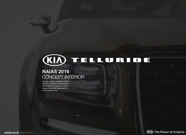 Kia Telluride Concept Interior Naias 2016 On Ccs Portfolios