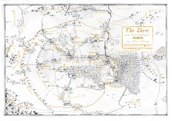 Assorted maps of MiddleEarth on Behance – Best Middle Earth Map