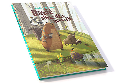 forest animals bear bee bird fich hug frog ant river War