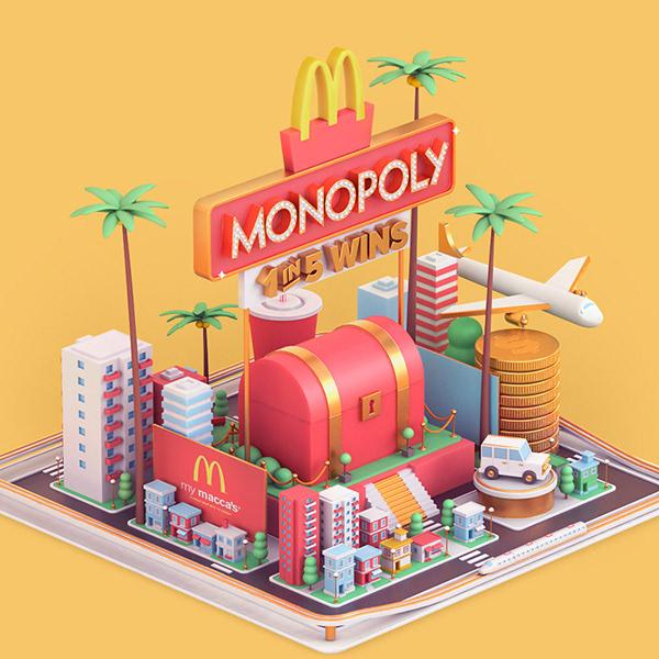 McDonald's Monopoly v izometrii