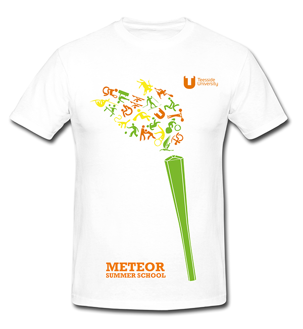 meteor summer school t shirts teesside university on behance
