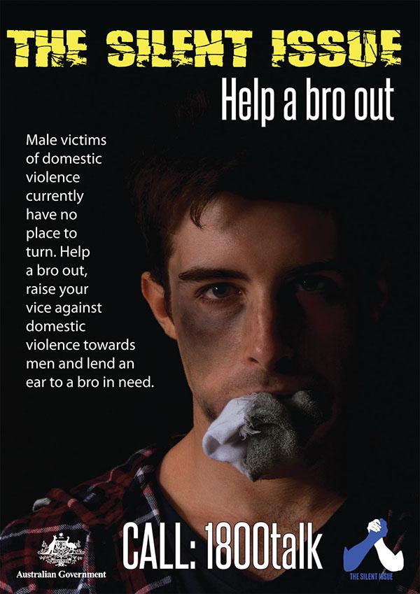 abuse domestic violence men victim anti campaign poster coaster billboard advertisement